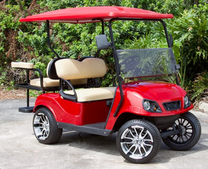 "EZGO TXT ""Titan"" Red w/ Tan Seats - $7,400"