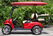 "Load image into Gallery viewer, EZGO TXT ""Titan"" Red w/ Tan Seats - $5,900"