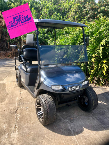 EZGO TXT Steel Blue w/ Black Seats - $5,800