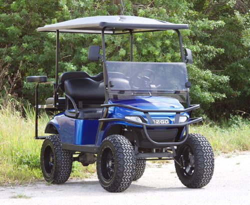 EZGO TXT Electric Blue with Black Seats - Lifted - $8,400