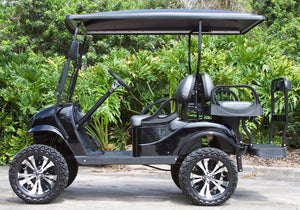 "EZGO TXT ""Titan"" Black with Two Tone Seats - Lifted - $7,300"