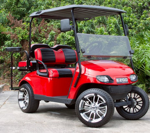 EZGO TXT Red w/ Two Tone Seats - $6,100