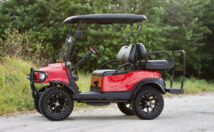 "Club Car Precedent ""Alpha"" Red w/ Black Seats - Lifted - $7,900"