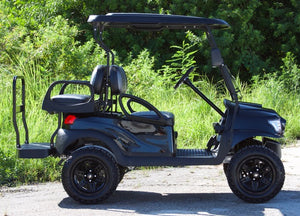 "Club Car Precedent ""Alpha"" Metallic Black w/ Two Tone Seats - Lifted - $9,000"