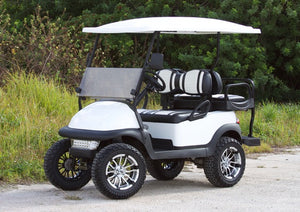Club Car Precedent White w/ Two Tone Seats - Lifted - $6,900