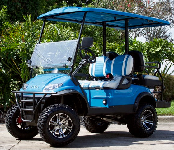 Cars For Sale Tampa >> 2019 Caribbean Blue ICON I40L Golf Cart with Two Tone ...