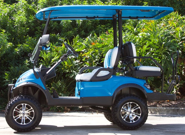 2019 Caribbean Blue Icon I40l Golf Cart With Two Tone