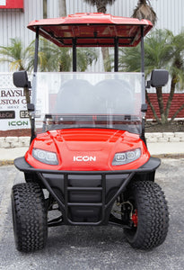 ICON i40L - Torch Red with Black Seats -  Lifted - $8,350