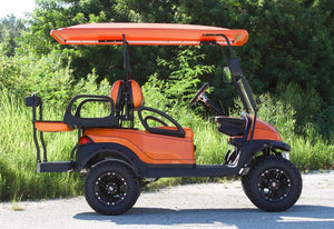 Club Car Precedent Metallic Orange w/ Two Tone Seats - Lifted - $7,500