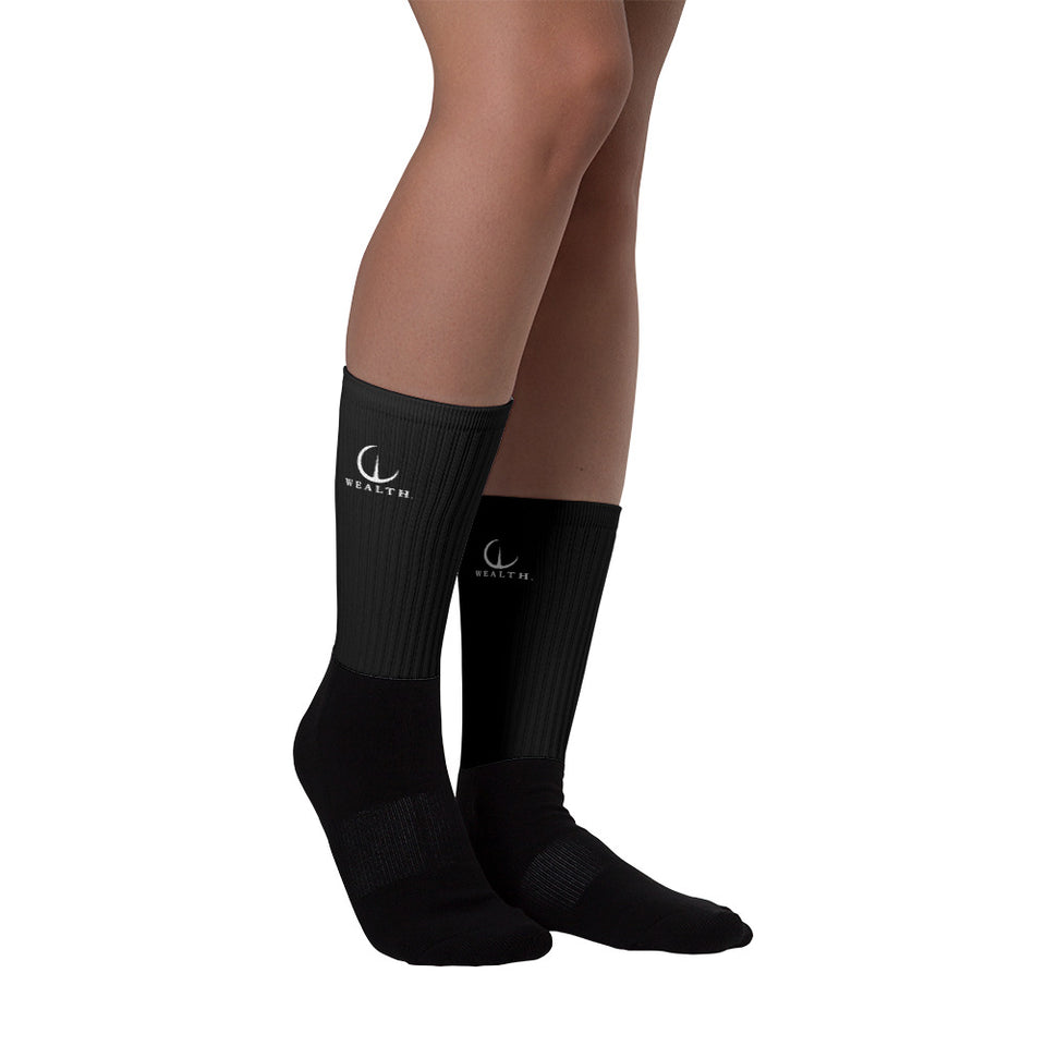 Official Wealth Socks in Black