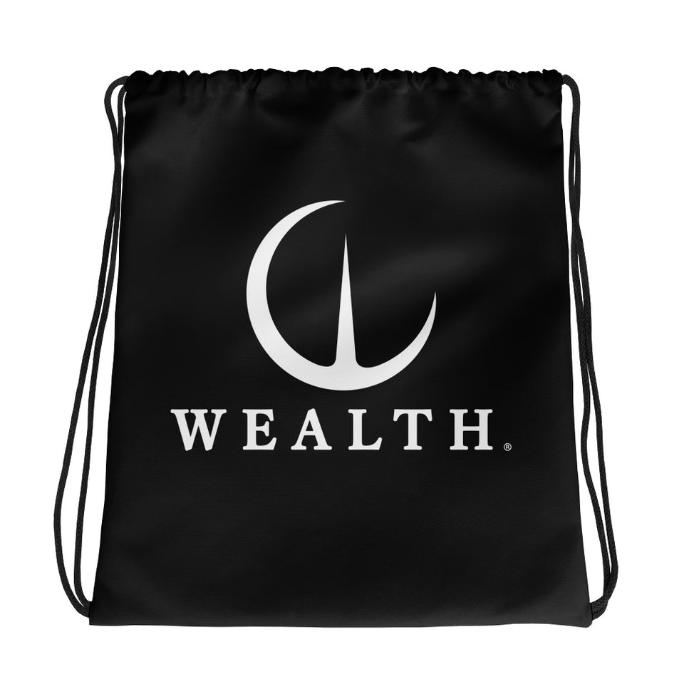 Official Wealth Drawstring bag