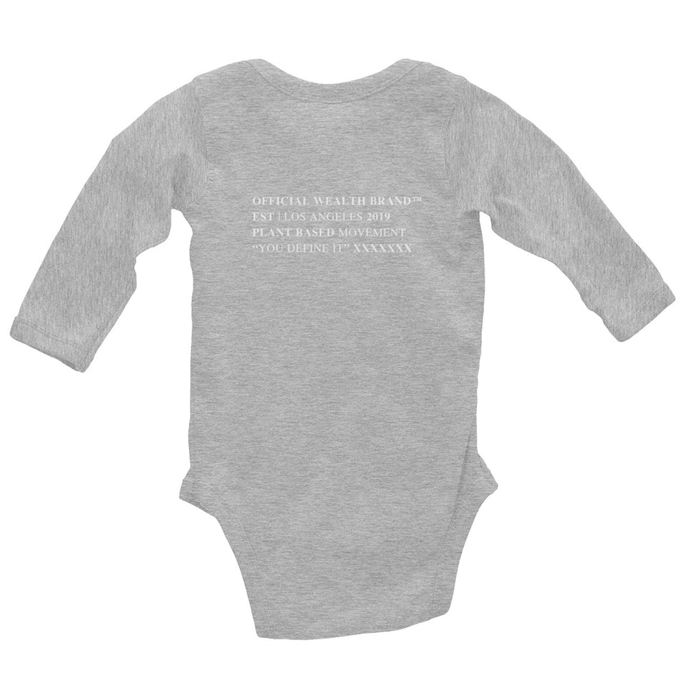 WEALTH Infant Long Sleeve Bodysuit