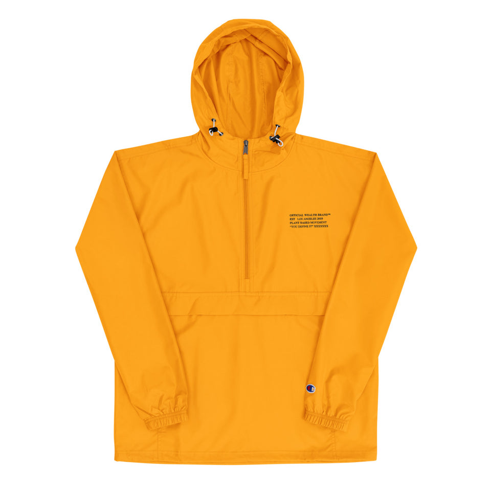 Wealth Embroidered Champion Packable Jacket (sauna)