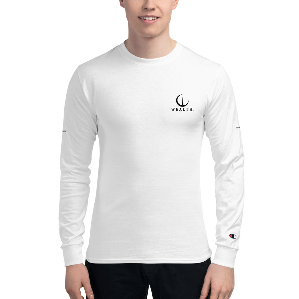 Official WEALTH Champion Long Sleeve Shirt