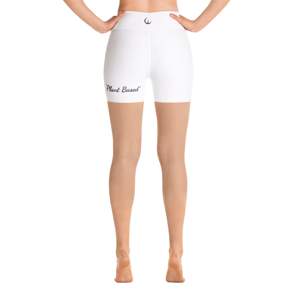 WEALTH White Yoga Shorts