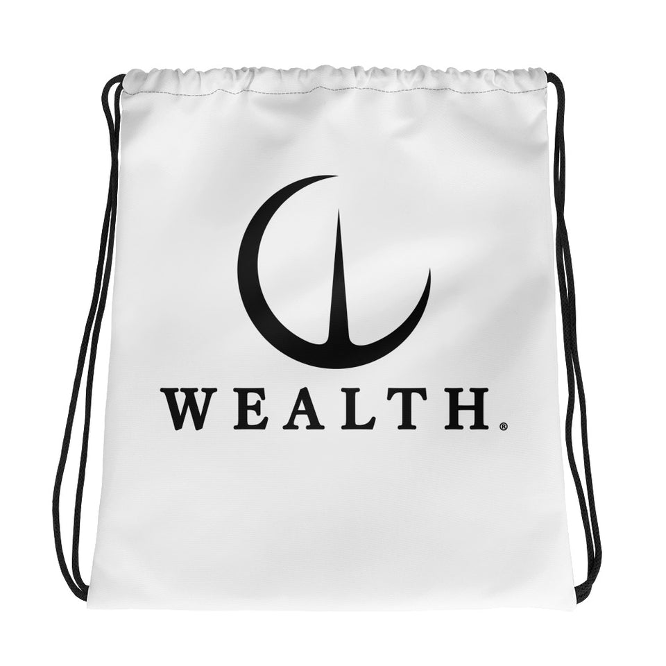 Official Wealth Drawstring bag in White