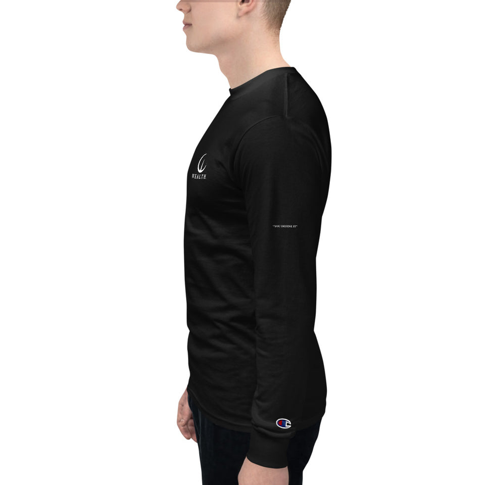 Men's WEALTH Champion Long Sleeve Shirt