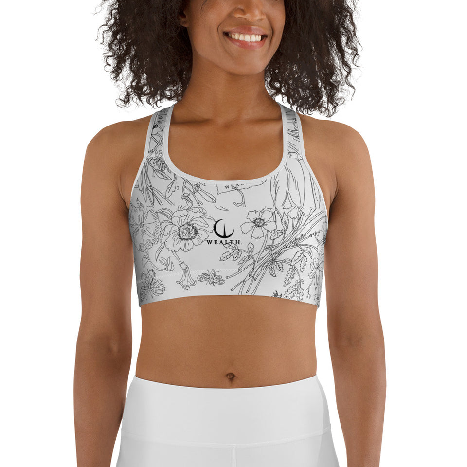 WEALTH Plant based print Sports bra