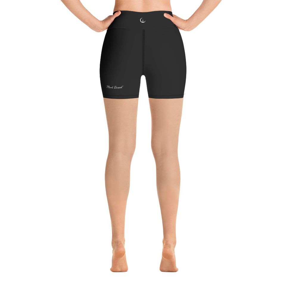 WEALTH Black Yoga Shorts