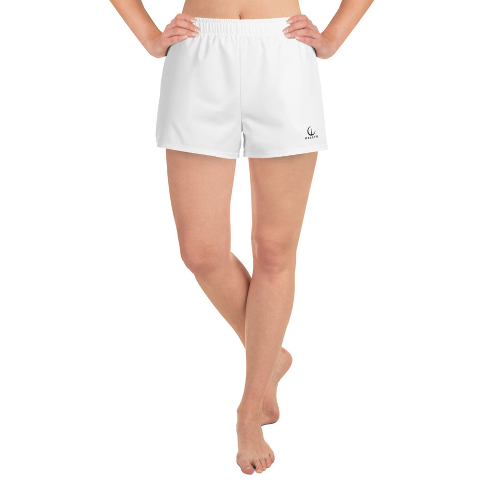 WEALTH White Women's Athletic Short Shorts
