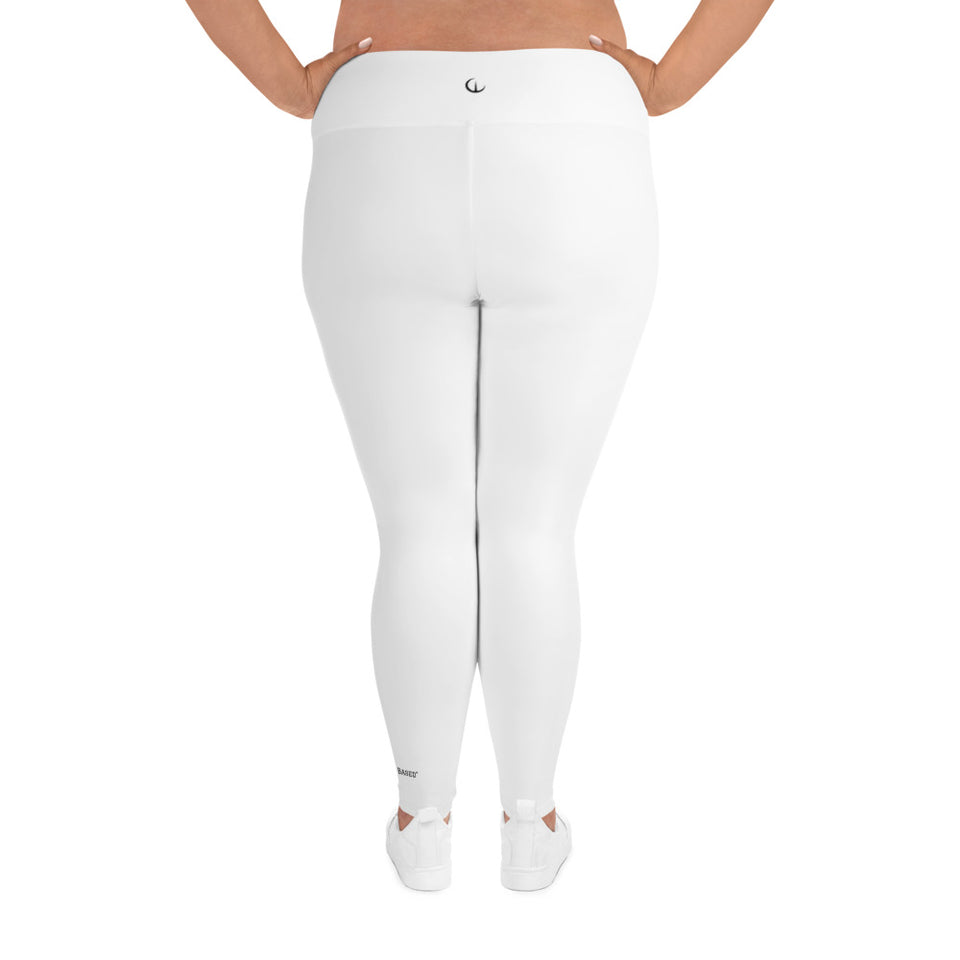 WEALTH White Plus Size Leggings