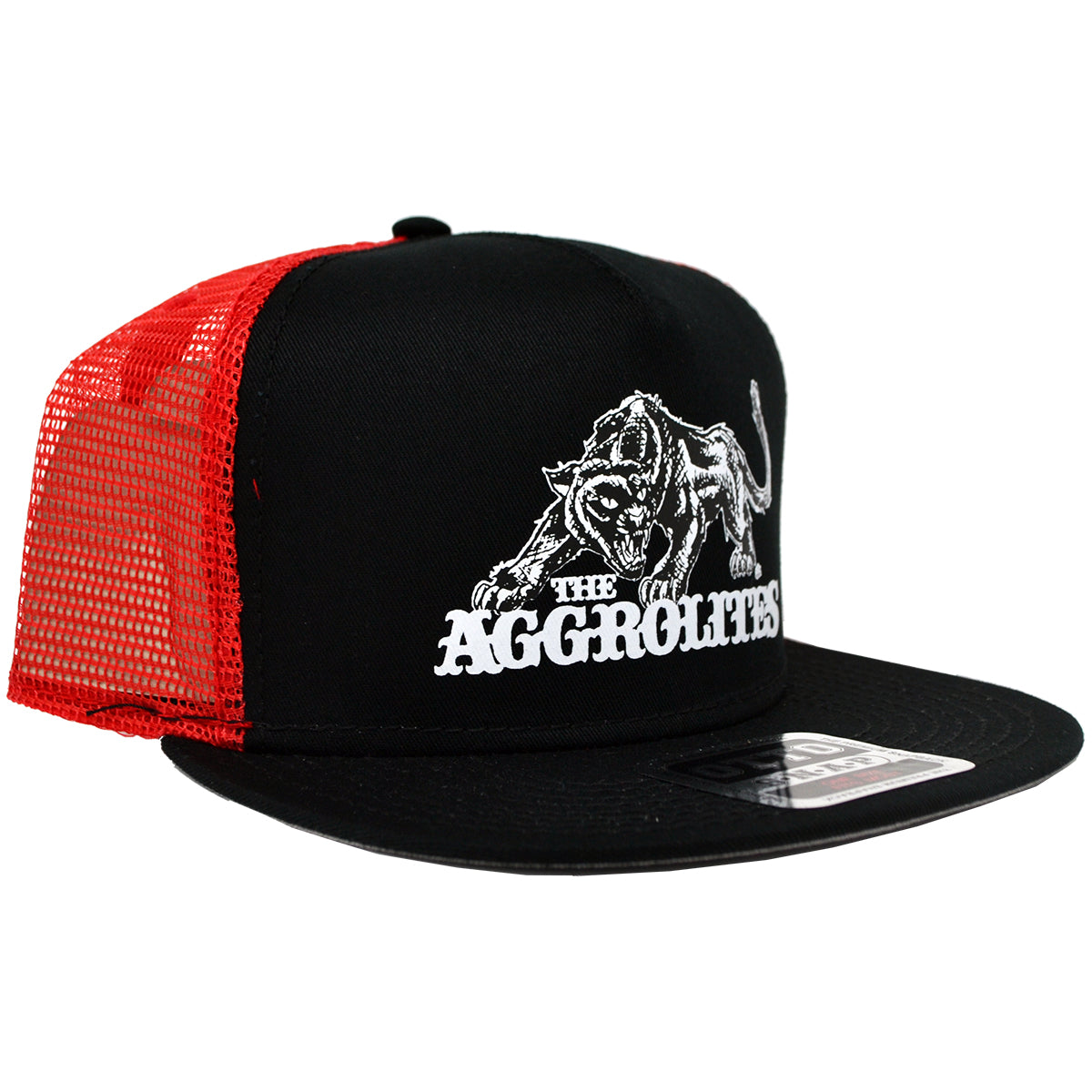 The Aggrolites - Aggropanther - Black w/ Red Mesh - Otto Snapback Hat