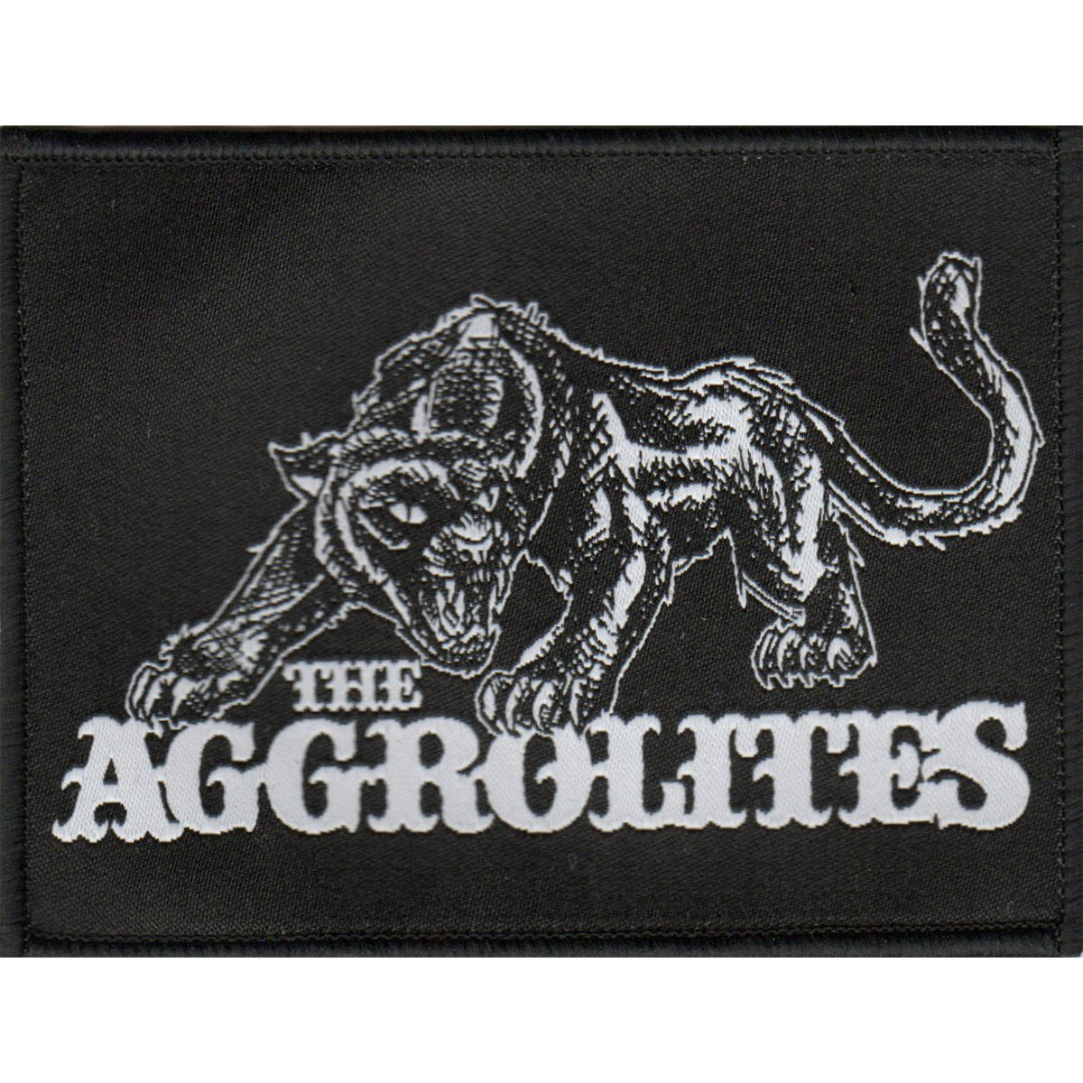 "The Aggrolites - Aggropanther - Woven Patch 4""x3"""