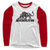The Aggrolites - Aggropanther - White & Red - Baseball Tee