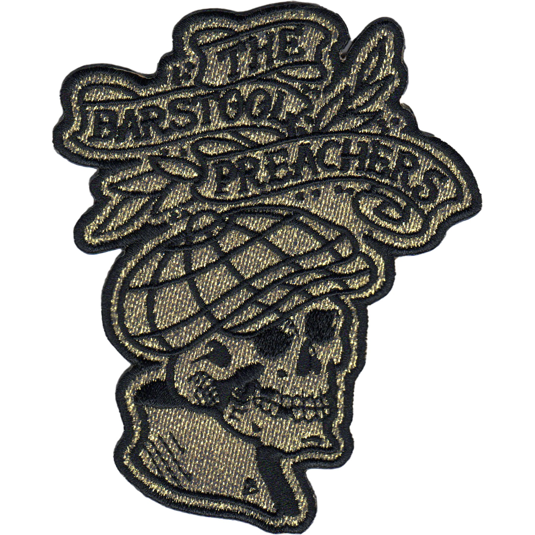 "The Bar Stool Preachers - NEW Skull Logo - Patch - Embroidered - 4"" x 3.25"""