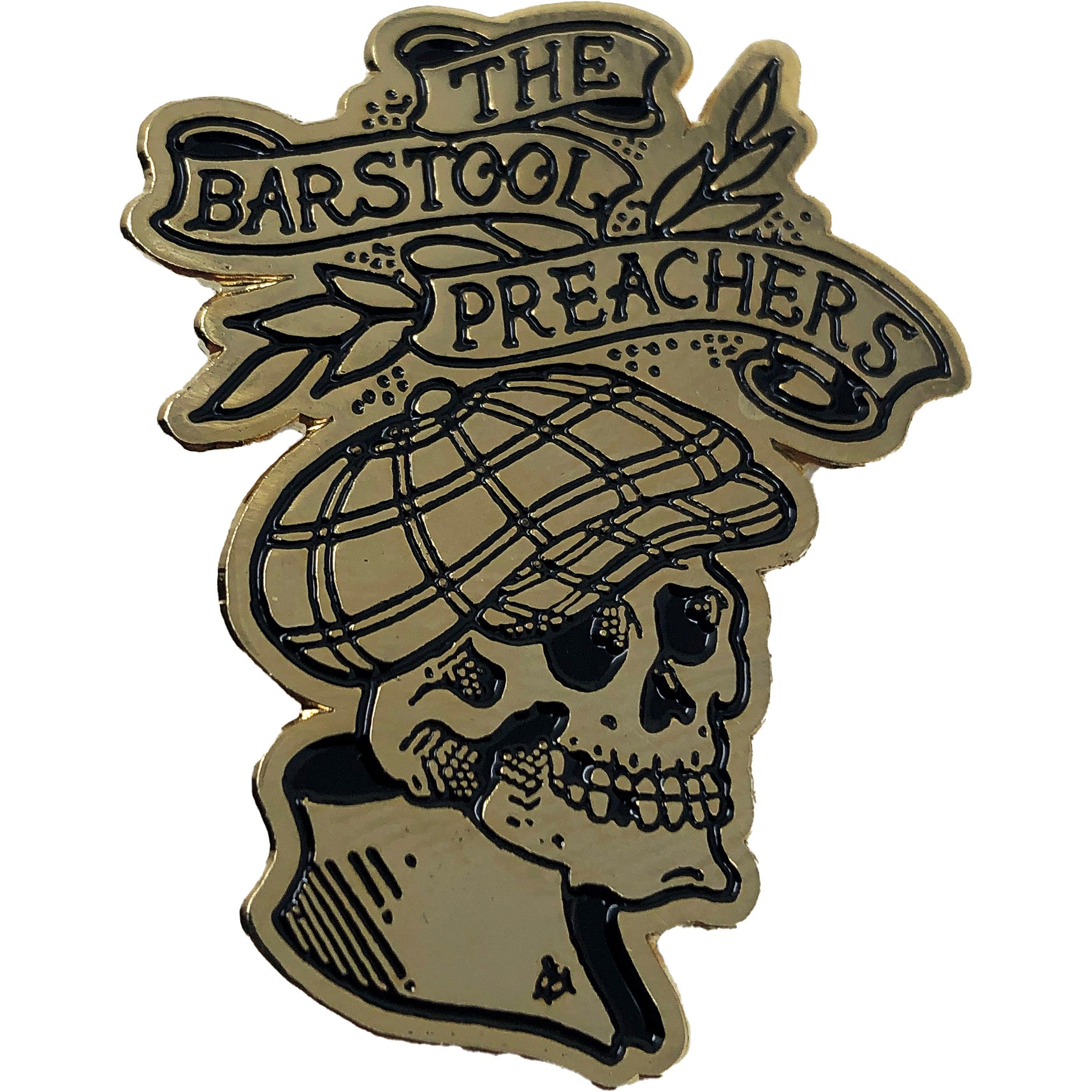 "The Bar Stool Preachers - NEW Skull Logo - 1.5"" Enamel Pin"