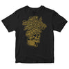 The Bar Stool Preachers - NEW Gold Skull on Black - T-Shirt