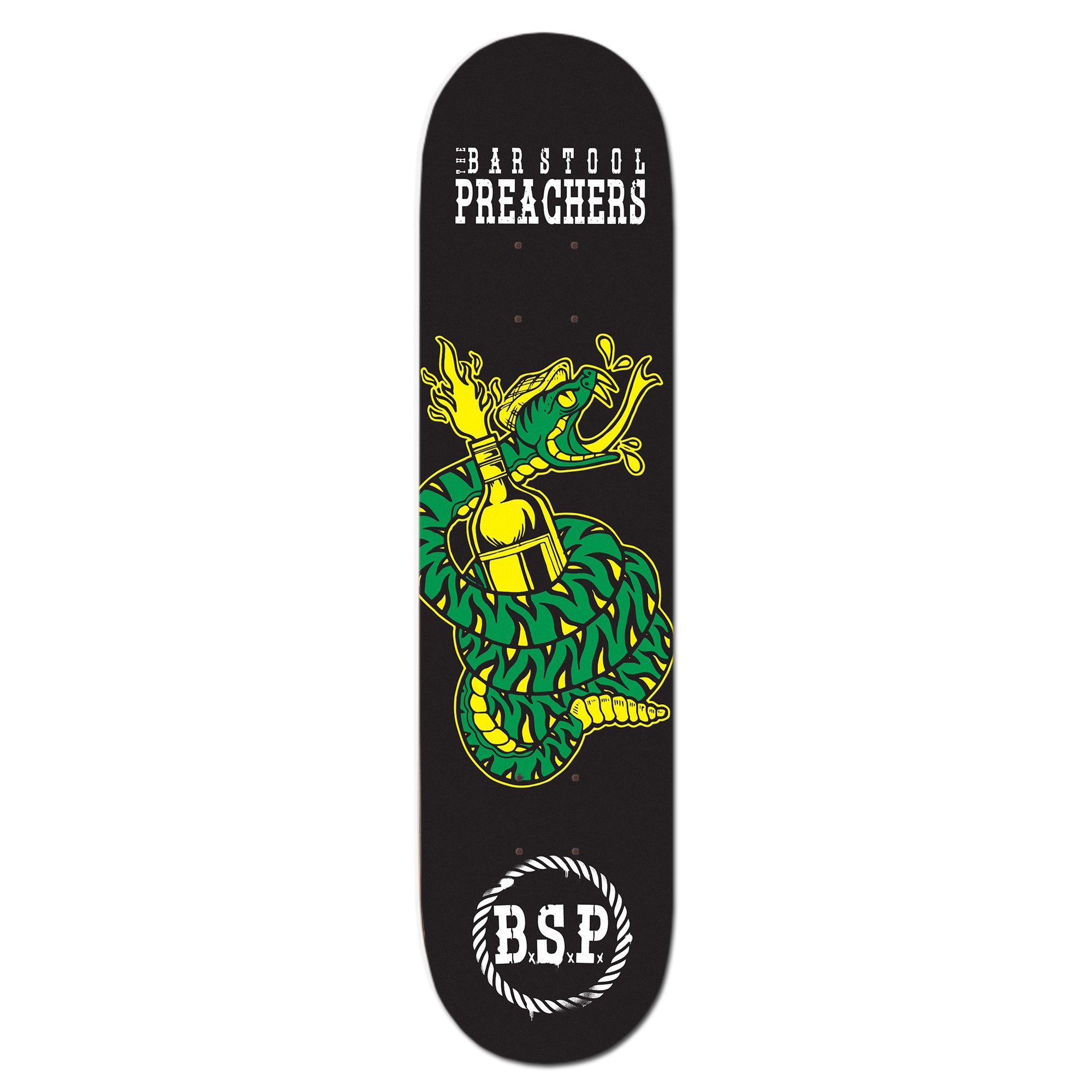 The Bar Stool Preachers - Snake Logo - Skateboard Deck