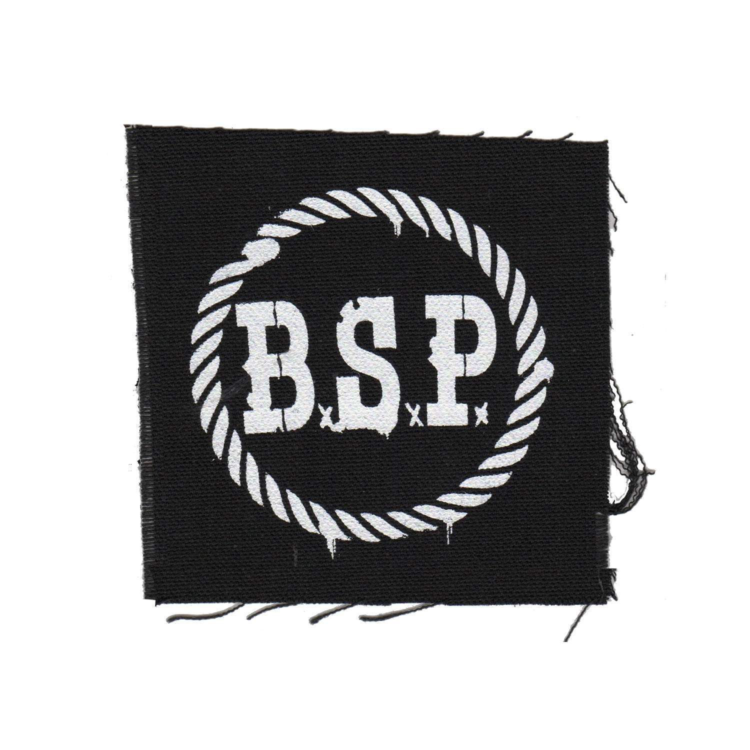 "The Bar Stool Preachers - BSP Stencil - Black - Patch - Cloth - Screenprinted - 4"" x 4"""