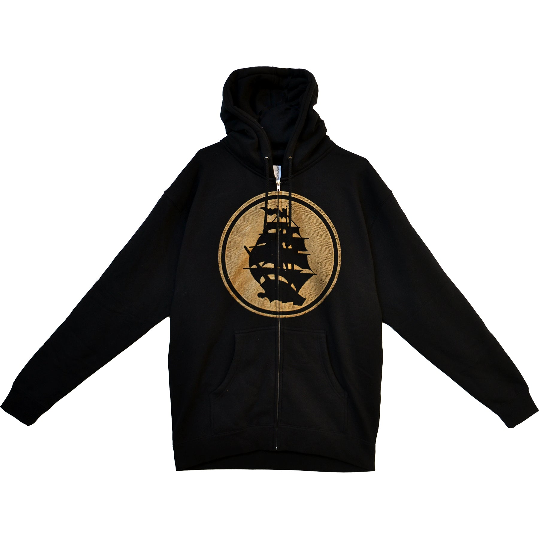 Pirates Press - Circle Logo - Black - Zip-Up Hoodie