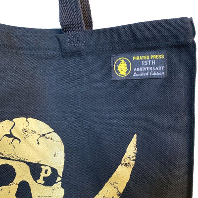 Pirates Press - Pirate Logo - Canvas Shopper- Black