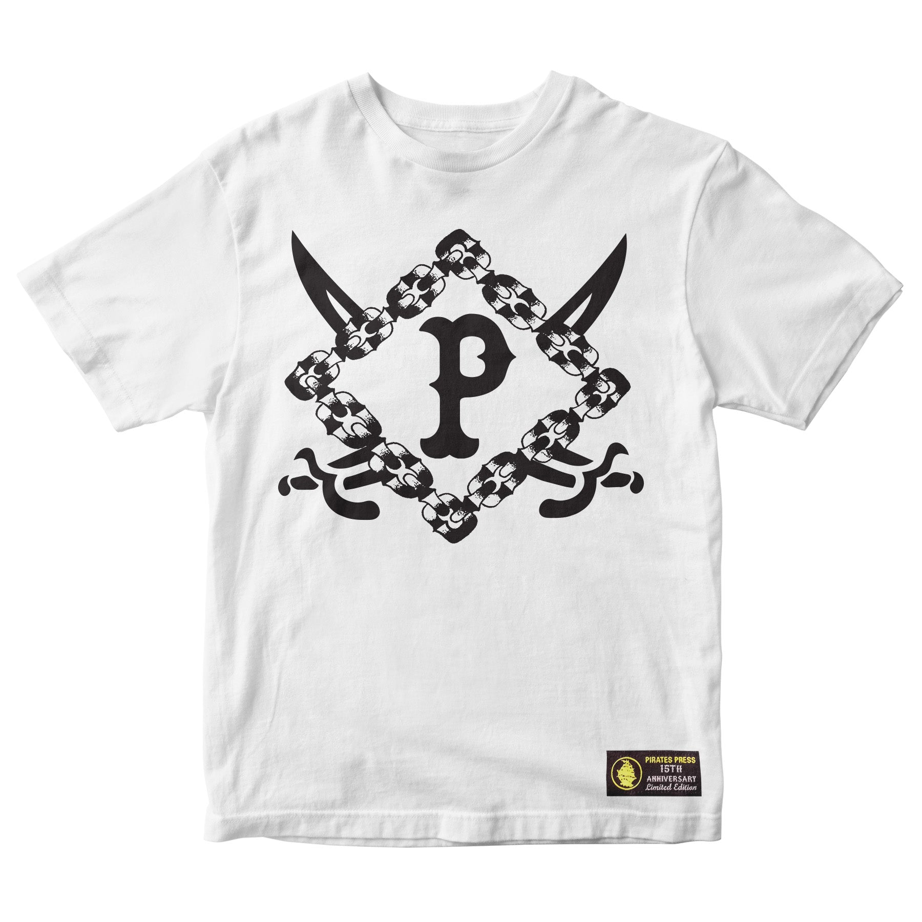 Pirates Press 15th Anniversary - Bryan Kienlen - White - T-Shirt