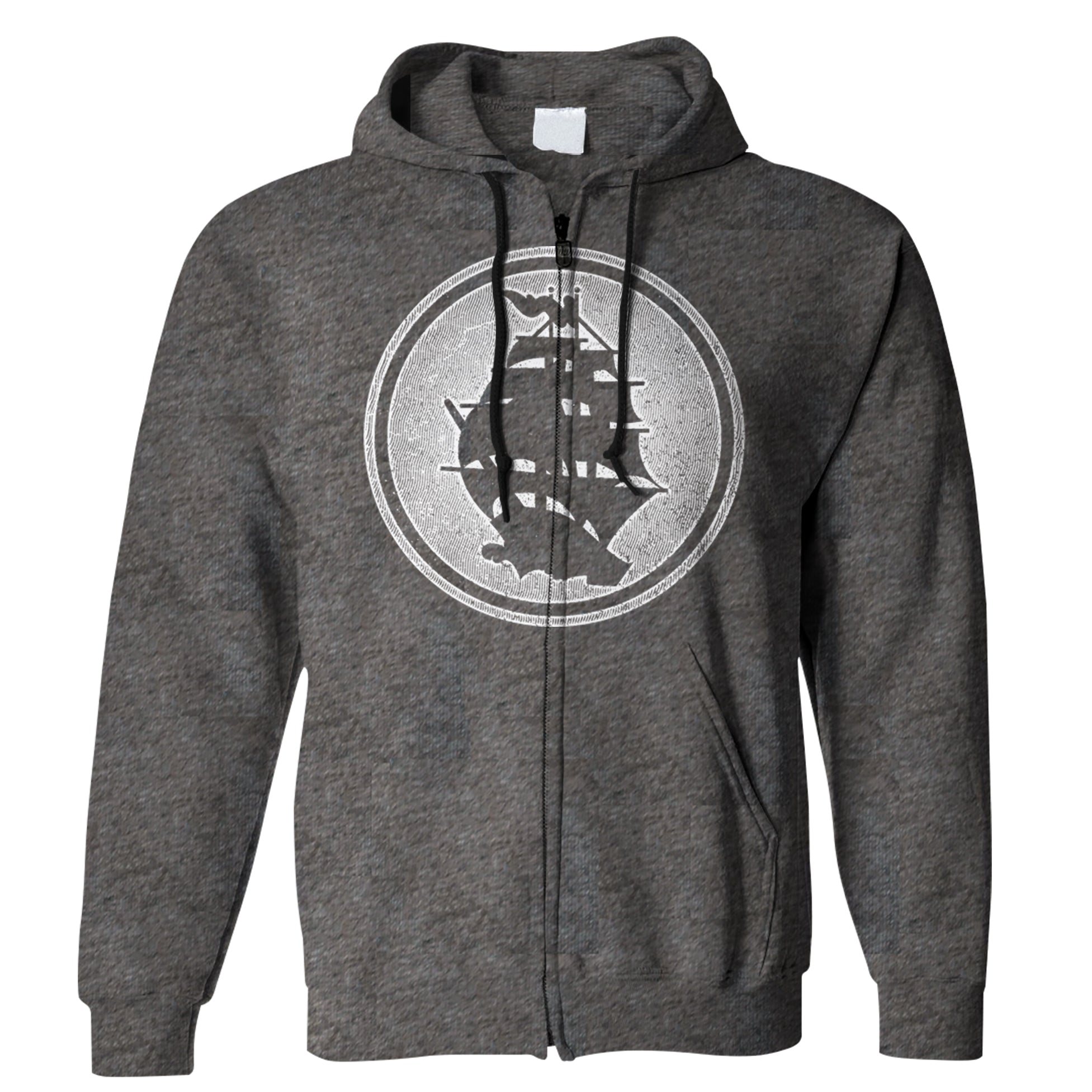 Pirates Press - Circle Logo - Zip-Up Hoodie