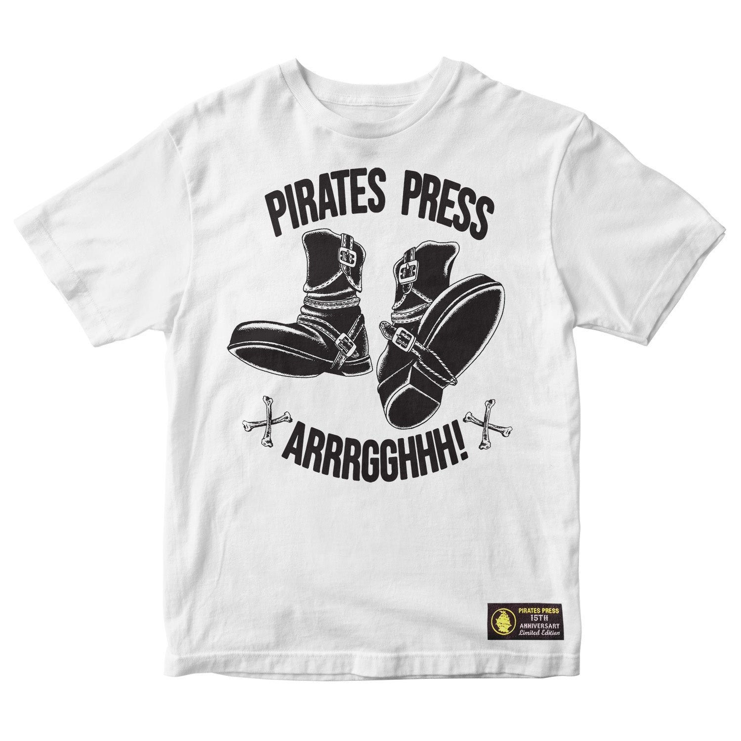 Pirates Press 15th Anniversary - Dan Smith - White - T-Shirt