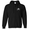 The Drowns - Wreath Logo - Black - Zip Hoodie