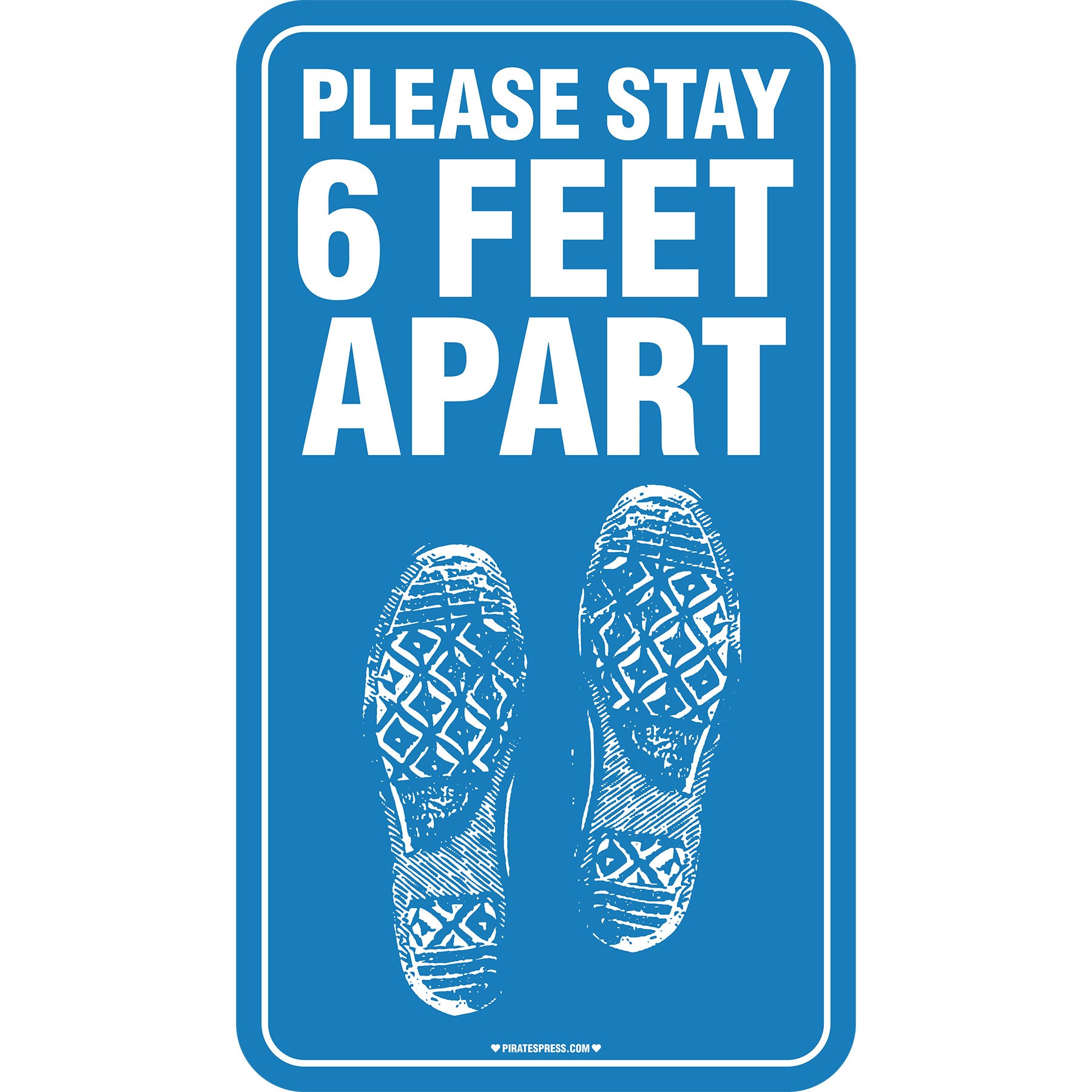 "6 Feet Apart - Floor Decal - Converse - 10"" x 18"""