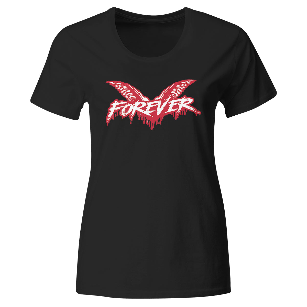 Cock Sparrer - Forever - Red and White on Black - T-Shirt - Fitted