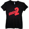 Grade 2 - Red Logo - Black - Fitted T-Shirt