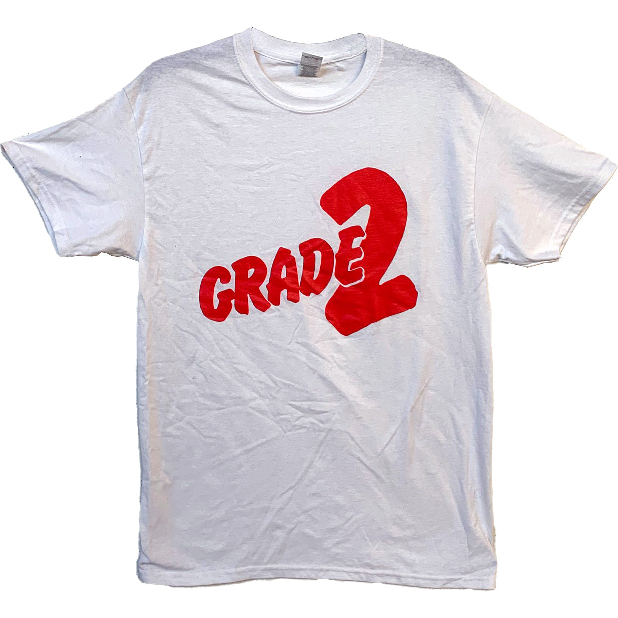 Grade 2 - Red Logo - White - T-Shirt