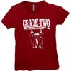 Grade 2 - Weekend Offender - Burgundy - Fitted T-Shirt