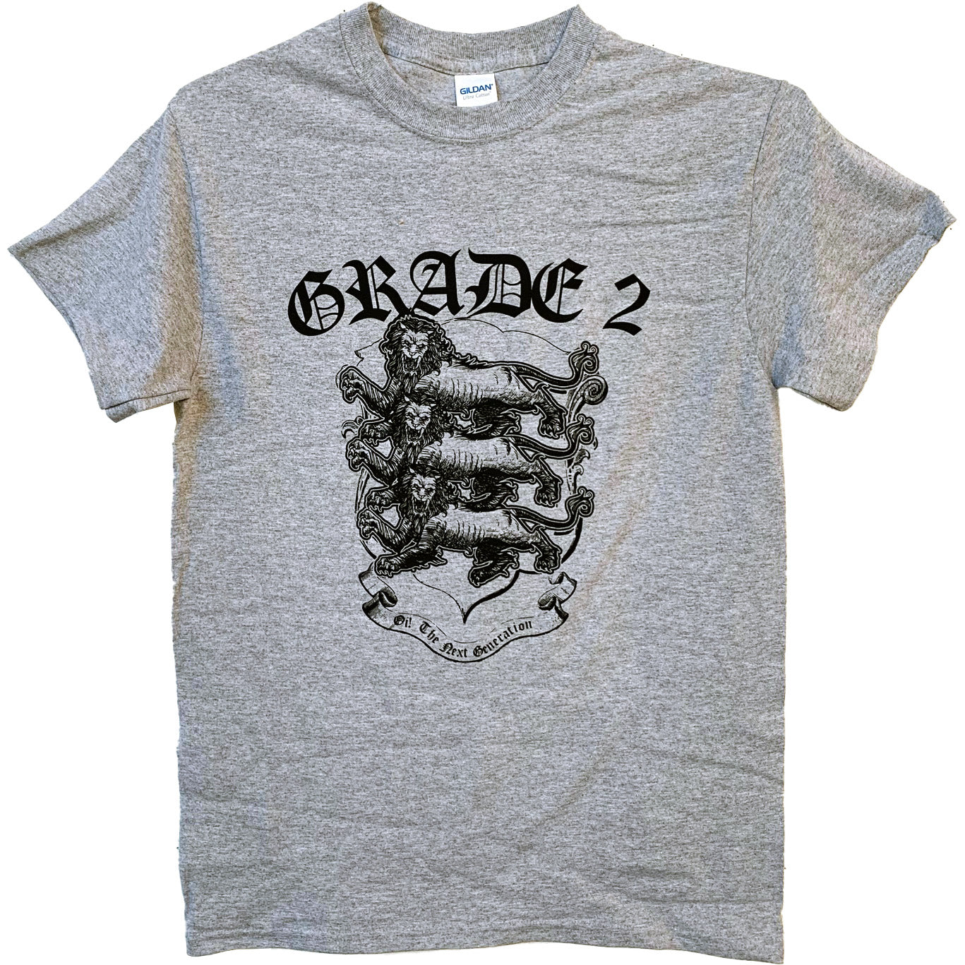 Grade 2 - Three Lions - Grey - T-Shirt