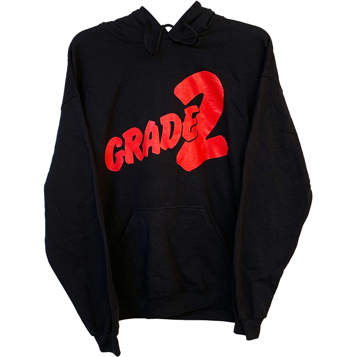 Grade 2 - Red Logo - Black - Hooded Sweatshirt