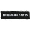 "Harrington Saints - Text Logo - Black - Patch - Cloth - Screenprinted - 8"" x 3"""