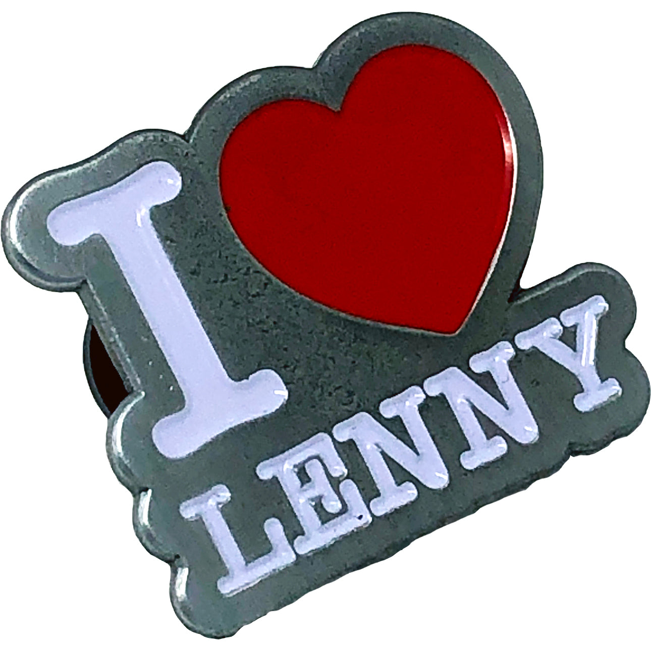 "Lenny Lashley Gang of One - I Love Lenny - 1.25"" Enamel Pin"