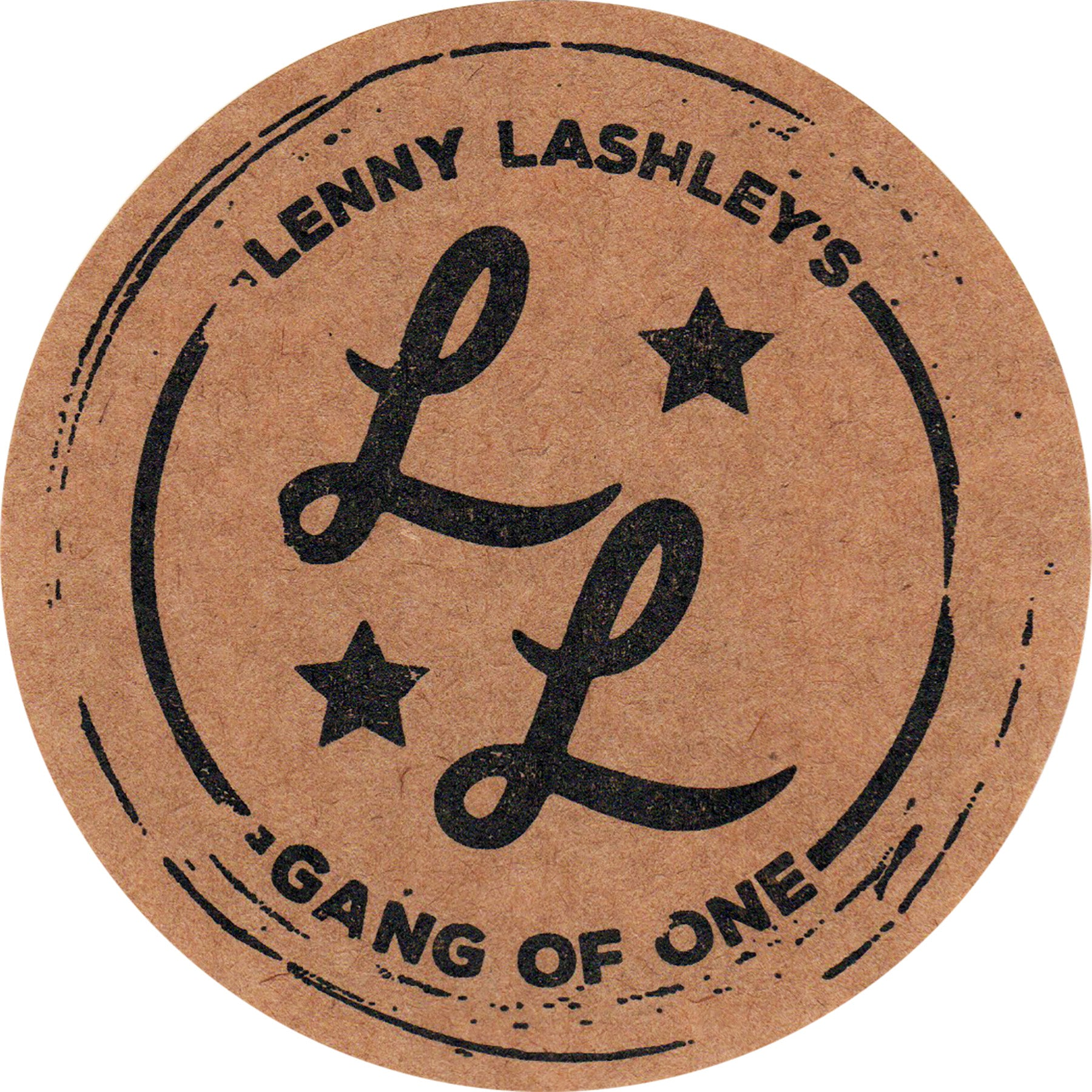 Lenny Lashley Gang of One - Logo - Sticker