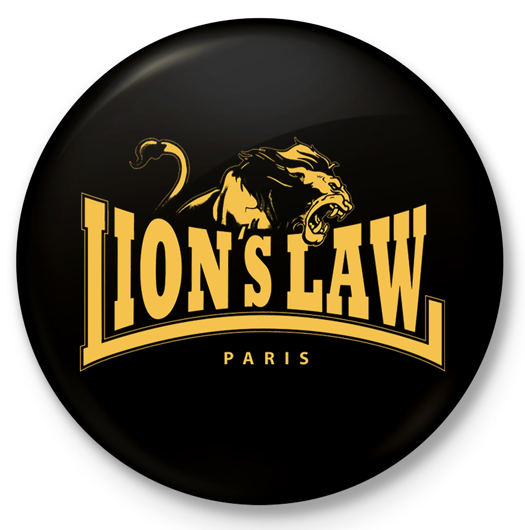 Lion's Law - Paris Logo - Button - 1""